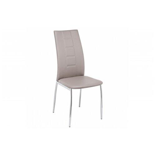 Стул Woodville Jenda, металл/искусственная кожа, цвет: светло-серый стул woodville dodo светло серый