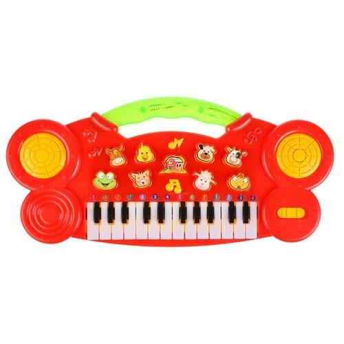 Купить Умка пианино B1198411-R красный, Детские музыкальные инструменты