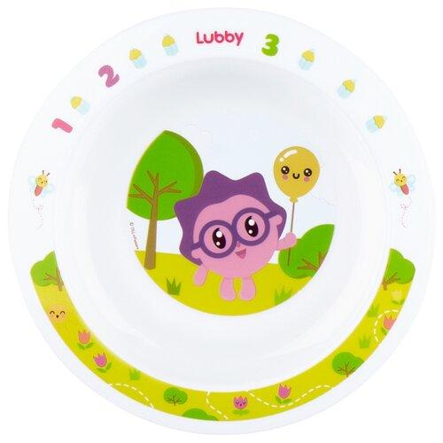 Тарелка Lubby на присоске Малышарики 400 мл (20916) желтый