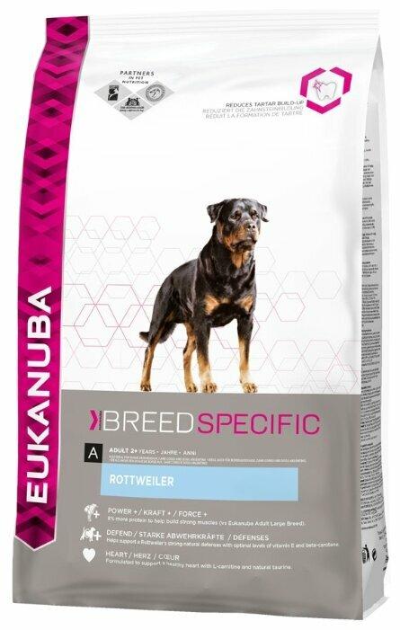 Корм для собак Eukanuba Breed Specific Ротвейлер для здоровья костей и суставов, курица 2.5 кг