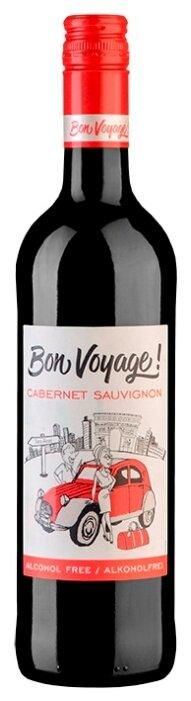Вино красное сухое Bon Voyage Cabernet Sauvignon безалкогольное 0,75 л