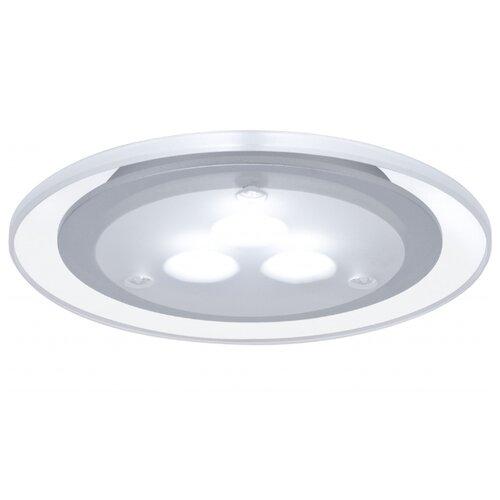 Светильник встраиваемый круглый мебельный LED 3x3W хром матовый/акрил (транс 12VA) (cd 75) 330 98352