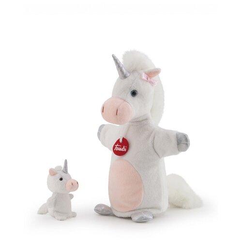 Купить Мягкая игрушка на руку Единорог с детенышем, 24x29x14см, Trudi, Мягкие игрушки