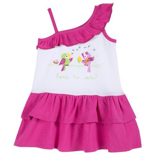 Платье Chicco размер 92, бело-розовый
