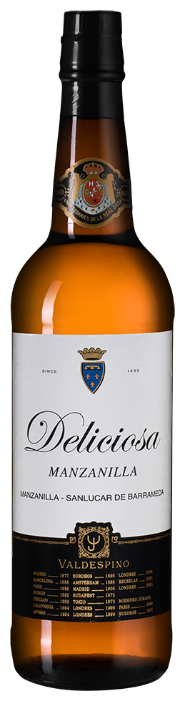 Херес Valdespino Manzanilla Deliciosa, 0.75 л