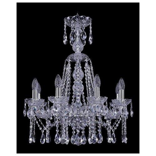 Люстра Bohemia Ivele Crystal 1413 1413/8/200/XL-66/Ni, E14, 320 Вт