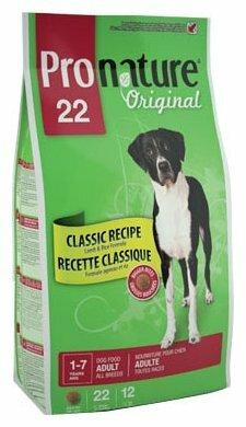 Корм для собак ProNature Original для здоровья кожи и шерсти, ягненок 18 кг (для крупных пород)