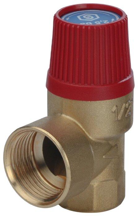 Предохранительный клапан STOUT SVS-0001-002515 муфтовый (ВР/ВР), латунь, 2.5 бар, Ду 15 (1/2