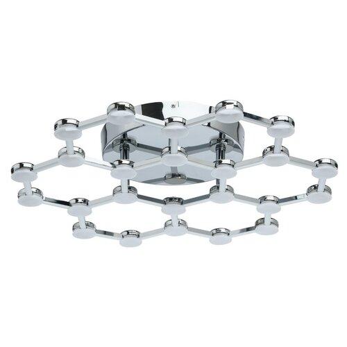Люстра De Markt Ракурс 631014301, 30 Вт, кол-во ламп: 1 шт., цвет арматуры: хром, цвет плафона: серый люстра светодиодная de markt ракурс 8 631014201 led 30 вт