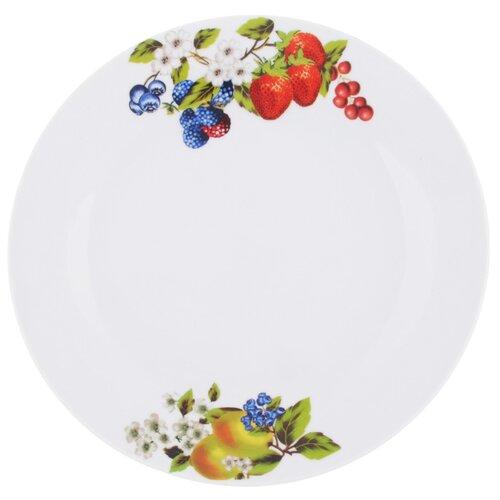 цена Chaozhou Jia Bai En Ceramics Тарелка подстановочная Ягодный бум 23 см белый онлайн в 2017 году