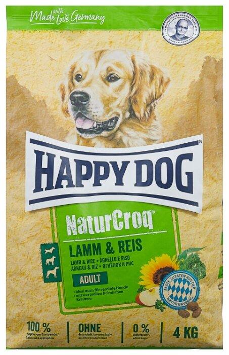 Корм для собак Happy Dog NaturCroq для здоровья кожи и шерсти, ягненок с рисом 4 кг