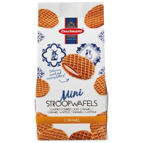 Вафли Daelmans Mini Stroopwafels бисквитные с карамельной начинкой 200 г