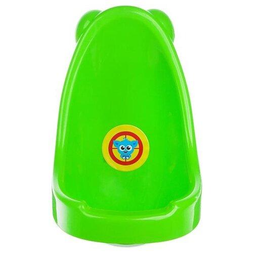 Фото - Крошка Я Горшок-писсуар Монстрик зеленый комплект посуды крошка я зайка 3275231 зеленый