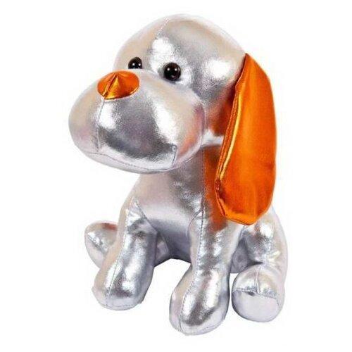 Купить Мягкая игрушка ABtoys Металлик Собака серебристая 17 см, Мягкие игрушки