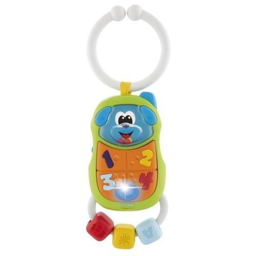 Купить Подвесная игрушка Chicco Телефончик (9708) зеленый/оранжевый, Подвески
