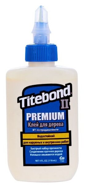 Клей полимерный Titebond II Premium Wood Glue 5002 0.118 л
