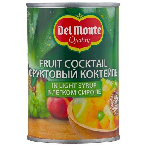 Фруктовый коктейль Del Monte в легком сиропе, жестяная банка 420 г