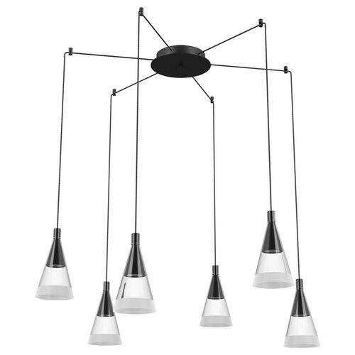 Люстра Lightstar Cone 757067, GU10, 240 Вт, цвет арматуры: черный, цвет плафона: бесцветный