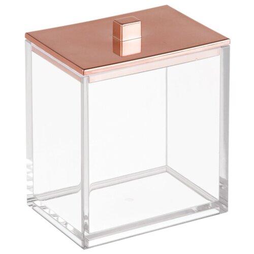 Контейнер для ватных палочек InterDesign Clarity 41488 прозрачный/бронза