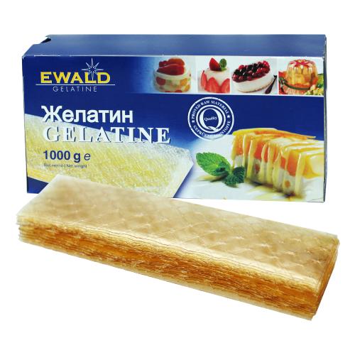 Ewald Желатин Gelatine листовой 1000 г