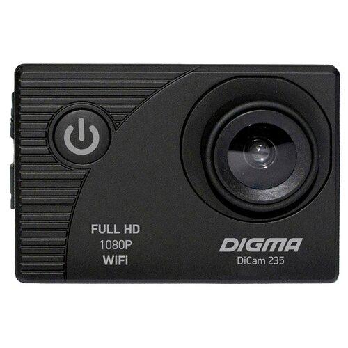 Фото - Экшн-камера DIGMA DiCam 235 черный мини кинотеатр digma dimagic cube черный dm001