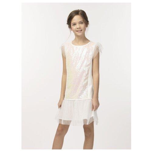 Купить Платье Смена размер 152/76, молочный, Платья и сарафаны