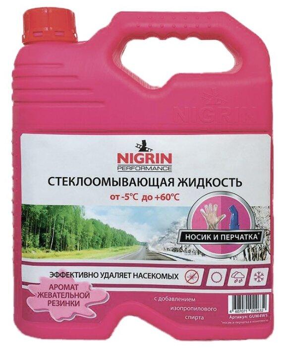 Жидкость для стеклоомывателя NIGRIN NIG4W15, -5°C, 4 л