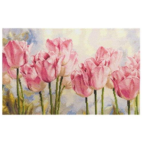 Фото - Алиса Набор для вышивания крестиком Розовые тюльпаны 40 х 27 см (2-37) алиса набор для вышивания тюльпаны малиновое сияние 22 x 26 см 2 43