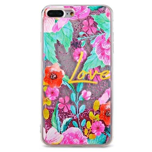 Чехол Pastila Life Style для Apple iPhone 7 Plus/iPhone 8 Plus Love in flowers skinbox silicone chrome border color style 1 4people чехол для apple iphone 7 8 green