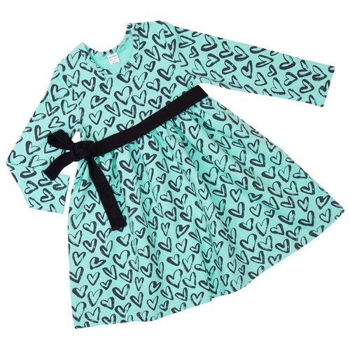 Платье ALENA размер 128-134, бирюзовый