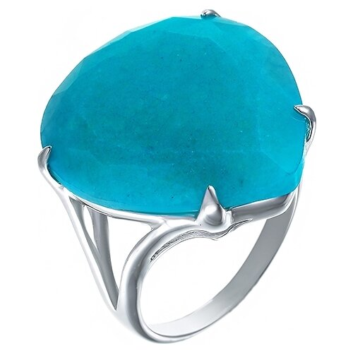 JV Кольцо с жадеитами из серебра ZR6694-KO-JD-002-WG, размер 17.5 jd коллекция разноцветное кольцо дефолт