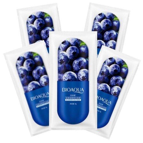 BioAqua Ночная маска для лица с экстрактом черники Blueberry Jelly, 8 г, 5 шт. маска для лица bioaqua bioaqua bi025lwdjge1