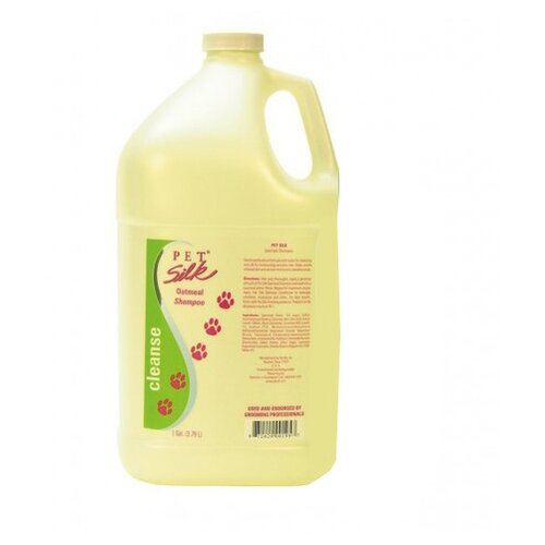 Шампунь Pet Silk Oatmeal Shampoo для кошек и собак с сухой и чувствительной кожей и шерстью 3.79 л
