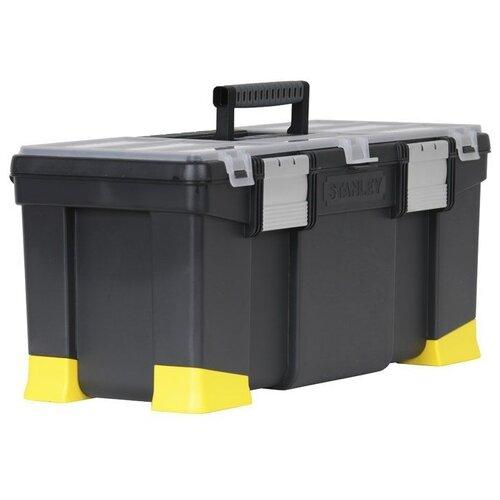 Ящик с органайзером STANLEY Classic 1-97-512 55.6x25.7x24.8 см 22'' черный/желтый ящик stanley 1 97 514 со съемным органайзером 24 67x32 3x25 1см