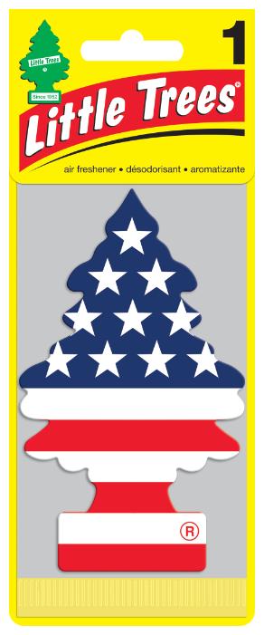 Little Trees Ароматизатор для автомобиля U1P-10945-RUSS Американский флаг 12 г