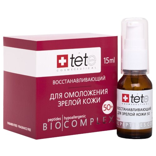 Биокомплекс TETe Cosmeceutical восстанавливающий для зрелой кожи Biocomplex 50+, 15 мл набор ковриков для ванной quelle tete a tete 1018354