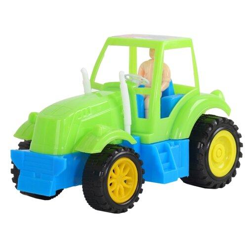 Купить Трактор Джамбо Тойз JB5300120/JB5300121 17 см зеленый, Машинки и техника