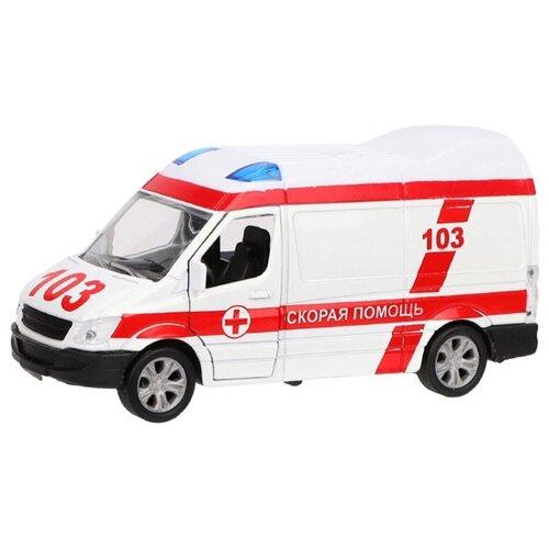 Купить Микроавтобус Пламенный мотор Скорая помощь (870361) 11 см белый, Машинки и техника