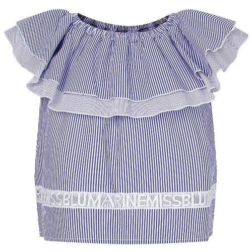 Купить Блузка Miss Blumarine размер 174, голубой, Рубашки и блузы