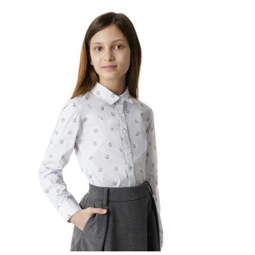 Купить Блузка Gulliver размер 170, белый, Рубашки и блузы