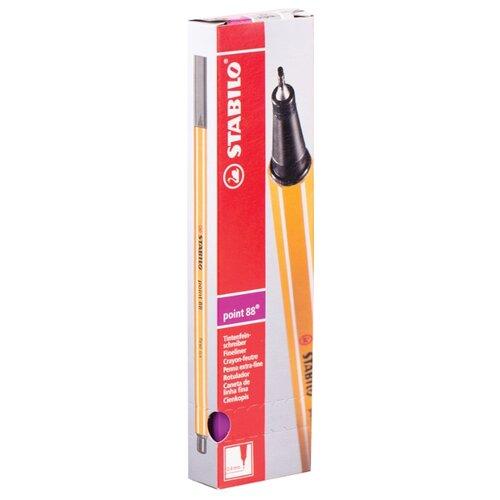 Купить STABILO Набор капиллярных ручек Point 88 0.4 мм, 10 шт., сиреневый цвет чернил, Ручки