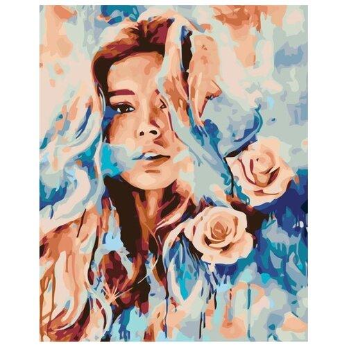 Купить Картина по номерам Живопись по Номерам Девушка с розами , 40x50 см, Живопись по номерам, Картины по номерам и контурам