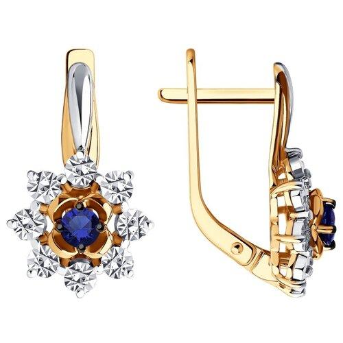 Diamant Серьги из комбинированного золота с сапфиром 51-220-00997-1