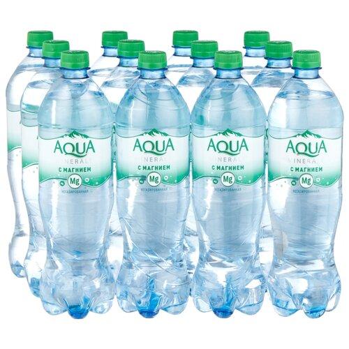 Вода питьевая Аква Минерале плюс с магнием негазированная, ПЭТ, 12 шт. по 1 л вода питьевая aqua minerale active негазированная цитрус спорт пэт 12 шт по 0 5 л