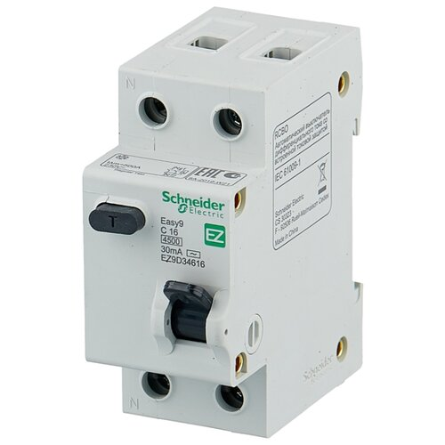 Дифференциальный автомат Schneider Electric EASY 9 1П 30 мА C 25 А автомат schneider electric a9f79120