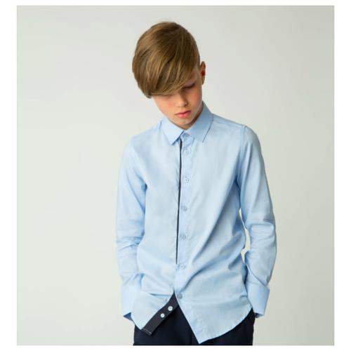 Рубашка Gulliver размер 170, голубой, Рубашки  - купить со скидкой
