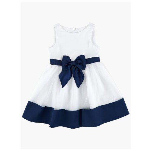 Платье Mini Maxi размер 116, белый/синий платье oodji ultra цвет красный белый 14001071 13 46148 4512s размер xs 42 170