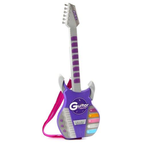 цена на Veld Co гитара Электронная 89154 серый/фиолетовый/розовый