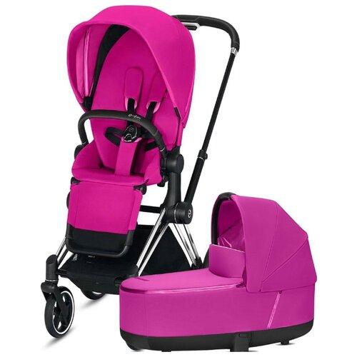 Купить Универсальная коляска Cybex Priam III (2 в 1) fancy pink/chrome/black, цвет шасси: серебристый, Коляски