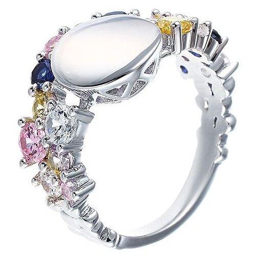 JV Кольцо с фианитами из серебра DM1045-1R-KO-001-WG, размер 18 jv кольцо с фианитами из серебра dm2370r ko 001 wg размер 18